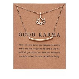 Good Karma Flower Necklace Lucky Charm Party Gift